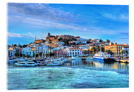 Akrylbillede  View of the old port of Ibiza - HADYPHOTO