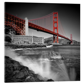 Akrylbillede  Golden Gate Bridge Fort Point - Melanie Viola