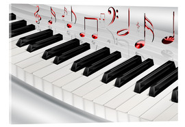 Akrylbillede  Piano keyboard with notes - Kalle60