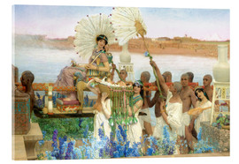 Akrylbillede  The Finding of Moses by Pharaoh's Daughter - Lawrence Alma-Tadema