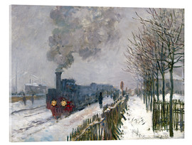 Akrylbillede  Train in the snow (The Locomotive) - Claude Monet