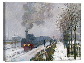 Lærredsbillede  Train in the snow (The Locomotive) - Claude Monet