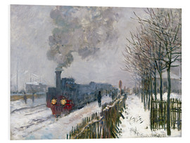 Print på skumplade  Train in the snow (The Locomotive) - Claude Monet