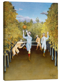 Lærredsbillede  The Football players - Henri Rousseau