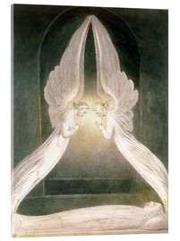 Akrylbillede  Christ in the Sepulchre, Guarded by Angels - William Blake