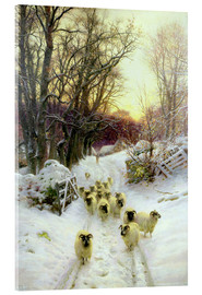 Akrylbillede  The Sun Had Closed the Winter's Day - Joseph Farquharson