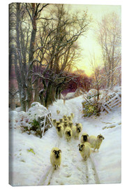 Lærredsbillede  The Sun Had Closed the Winter's Day - Joseph Farquharson