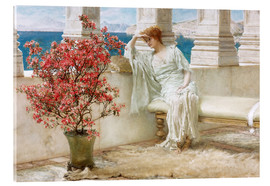 Akrylbillede  Her eyes are with her thoughts and they are far away - Lawrence Alma-Tadema