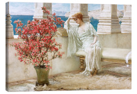 Lærredsbillede  Her eyes are with her thoughts and they are far away - Lawrence Alma-Tadema