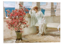 Print på skumplade  Her eyes are with her thoughts and they are far away - Lawrence Alma-Tadema
