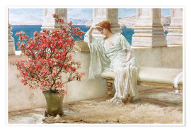 Premium-plakat  Her eyes are with her thoughts and they are far away - Lawrence Alma-Tadema