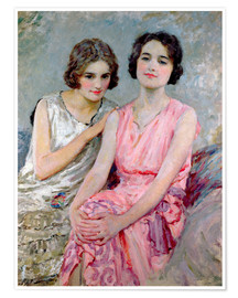 Premium-plakat Two Young Women Seated
