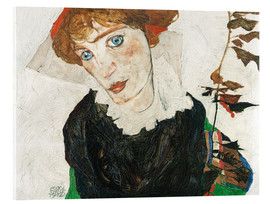 Akrylbillede  Portrait of Wally Neuzil - Egon Schiele