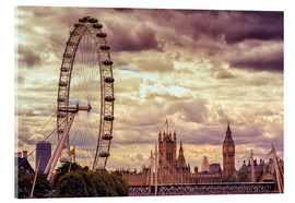 Akrylbillede  London Eye & Big Ben - Stefan Becker