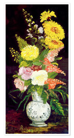 Premium-plakat Vase with Flowers