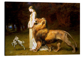 Print på aluminium  Una and the Lion, from Spenser's Faerie Queene - Briton Riviere