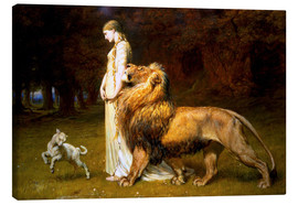Lærredsbillede  Una and the Lion, from Spenser's Faerie Queene - Briton Riviere