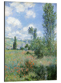 Print på aluminium  Path Through the Poppies, Île Saint-Martin, Vetheuil - Claude Monet