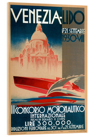 Akrylbillede  Venezia Lido 1930 - Travel Collection