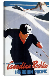 Lærredsbillede  Skiing in the Canadian Rockies - Travel Collection