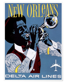 Premium-plakat  Fly to New Orleans
