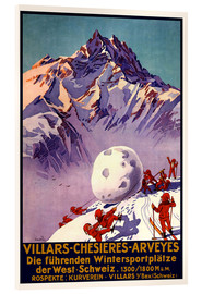 Akrylbillede  Winter Sports in Villars, Chesieres and Arveyes - Travel Collection