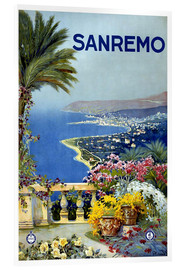 Akrylbillede  Sanremo - Travel Collection