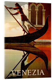 Akrylbillede  Italy - Venice gondolier - Travel Collection