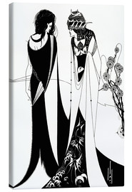 Lærredsbillede  Salome with her mother, Herodias - Aubrey Vincent Beardsley