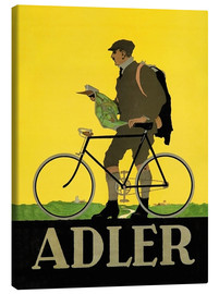 Lærredsbillede  Adler Bicycles - Advertising Collection