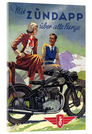 Akrylbillede  With Zündapp over the hills (German) - Advertising Collection
