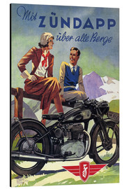 Print på aluminium  With Zündapp over the hills (German) - Advertising Collection