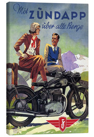 Lærredsbillede  With Zündapp over the hills (German) - Advertising Collection