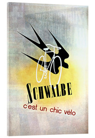 Akrylbillede  Bicycles - Schwalbe, cest un chic velo - Advertising Collection