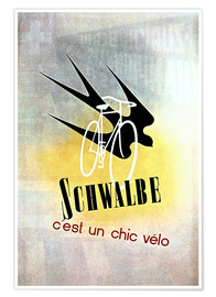 Premium-plakat  Bicycles - Schwalbe, cest un chic velo - Advertising Collection