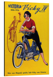 Print på aluminium  Who's talking about mopeds, praises Vicky Victoria - Advertising Collection