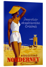 Akrylbillede  North Sea bath on Norderney - Travel Collection