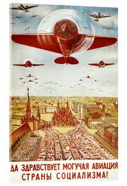 Akrylbillede  Aircraft parade on Moscow - Advertising Collection