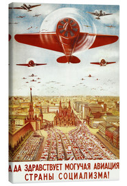 Lærredsbillede  Aircraft parade on Moscow - Advertising Collection