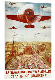 Print på skumplade  Aircraft parade on Moscow - Advertising Collection