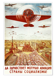 Premium-plakat  Aircraft parade on Moscow - Advertising Collection