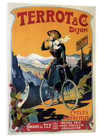 Print på skumplade  Terrot & Cie Dijon bicycles and motorcycles - Advertising Collection