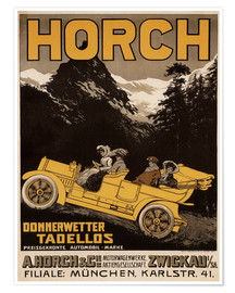 Premium-plakat  Horch cars - Golly impeccable - Advertising Collection