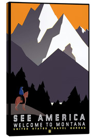 Lærredsbillede  See America - Welcome to Montana - Travel Collection