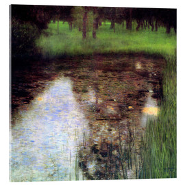 Akrylbillede  The Swamp - Gustav Klimt