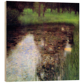 Print på træ  The Swamp - Gustav Klimt