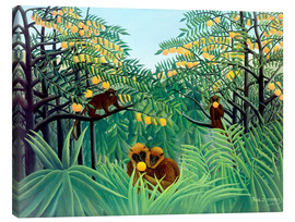 Lærredsbillede  Apes in the orange grove - Henri Rousseau