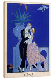 Print på træ  Yes! 1921 - Georges Barbier
