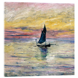 Akrylbillede  Sailboat evening - Claude Monet