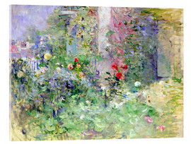 Akrylbillede  The Garden at Bougival - Berthe Morisot